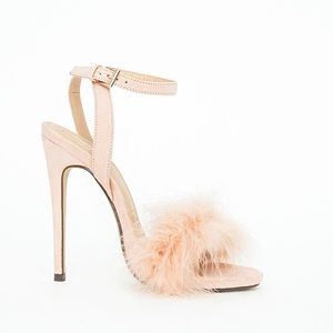 Missguided Carrie Feather Heeled Sandal
